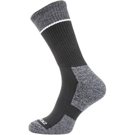 Sealskinz Solo Quickdry Mid Length Socks Black/Grey/White